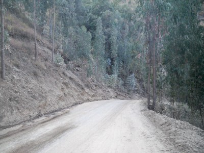The dusty road leading from Pallasca