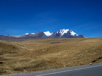 View from Catac in Peru