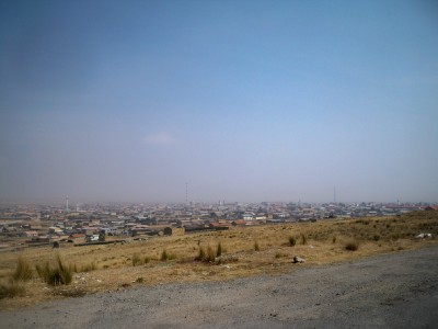 Cycling out of Junin in Peru