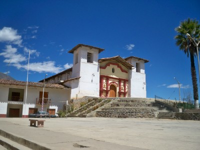 The center of Mollepata in Peru