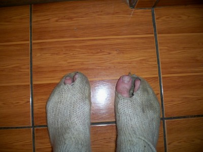 Note to self - it might be time for some new socks!