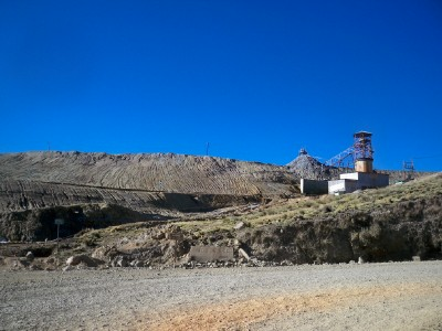 A mine in Peru near the town of Shorey