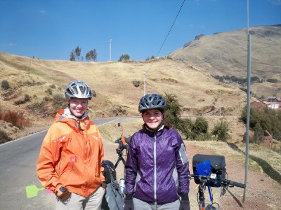 I met two other cyclists when biking through Peru