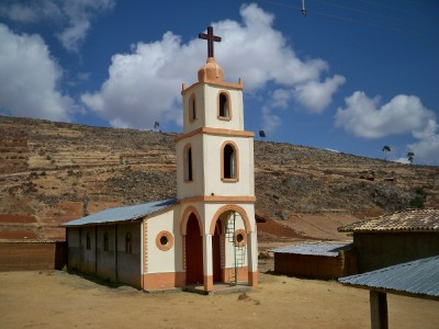 A tiny church in a small village past Huancayo in Peru