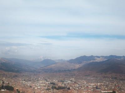 A view out over Cusco in Peru