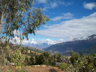 Cycling our of Uripa in Peru