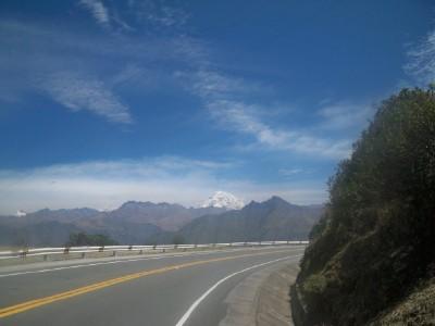 Cycling towards Cusco in Peru