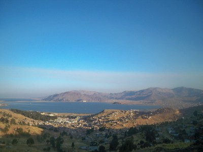 The view on to Puno in Peru