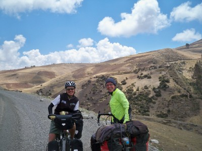 Sandra and Agusti - cyclists in Peru 2010