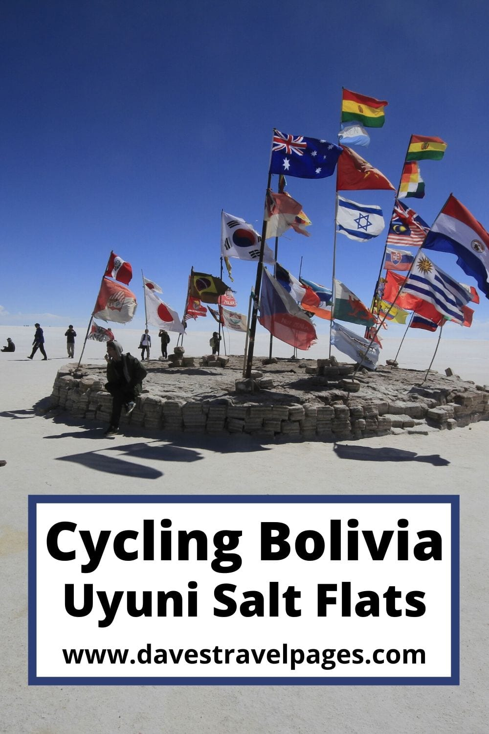 Cycling in Bolivia across the Salt Flats