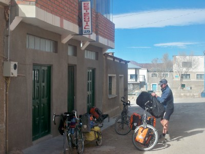 Cycling from Llica in Bolivia