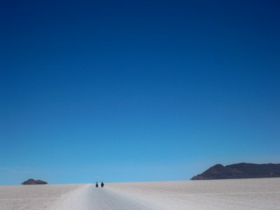 Llica in Bolivia - cycling across the salt pans