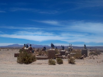A cemetary in the middle of the desert... Concerning!