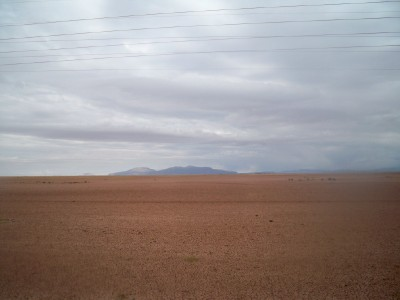 The open plains outside of Oruro in Bolivia