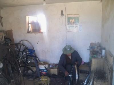 Patacamaya bicycle repair shop