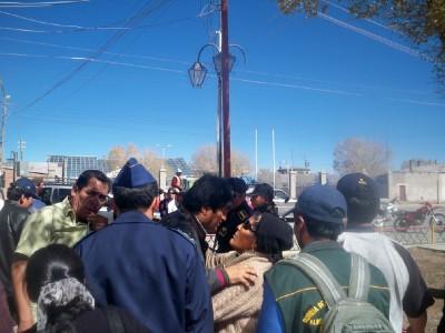 President Evo Morales visits Uyuni