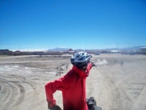 Cycling from Colchani to Uyuni