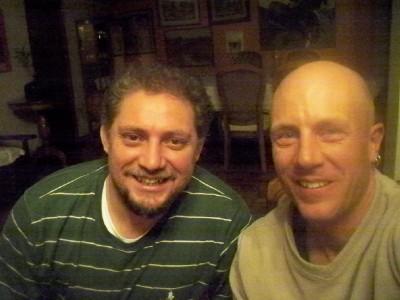 Dave Briggs and Gerado in La Paz, Bolivia