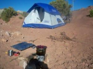 wild camp in Argentina