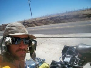 Dave Briggs cycling in Argentina