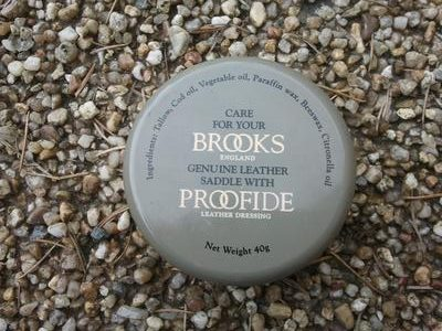 Brooks proofhide for looking after the bicycle touring saddle