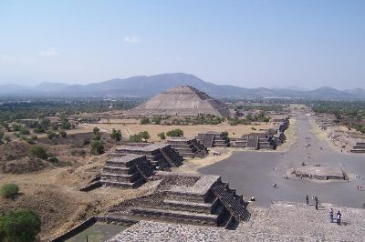 Teotihucan as seen when backpacking Mexico