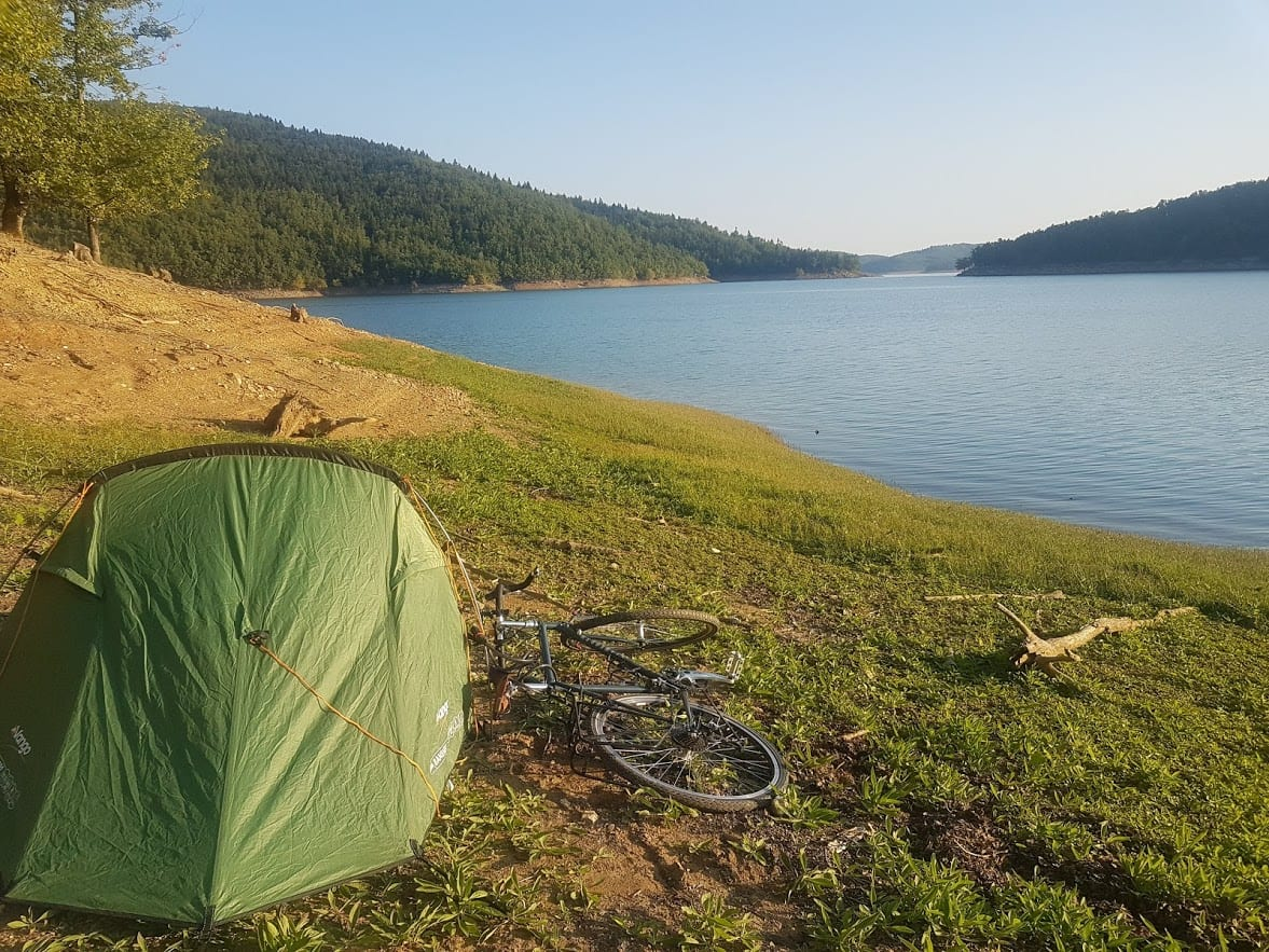 Some tips on how to wild camp when bike touring.