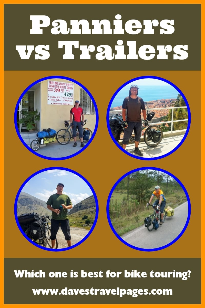Touring Panniers vs Bicycle Touring Trailer - Which is best?
