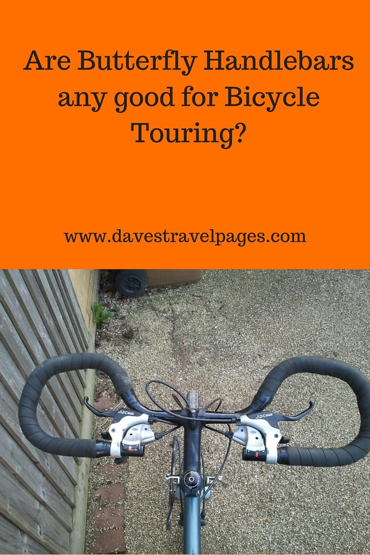 Are Butterfly Handlebars any good for bicycle touring? Here are the pros and cons of using different types of handlebar on a bicycle tour.
