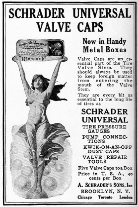 Schrader Valves being advertised in the 1920's