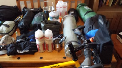Bicycle touring gear for a one week cycle tour