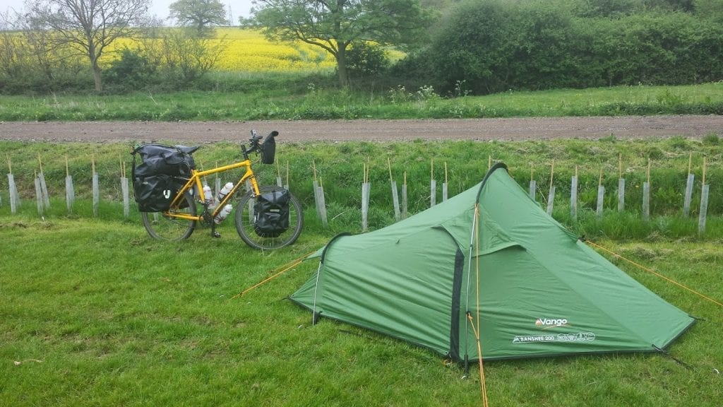 Camping on a bike tour