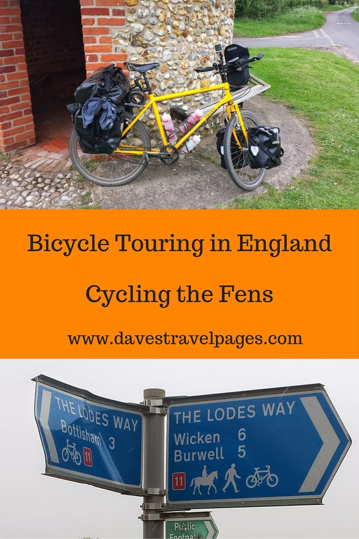 Bicycle Touring in England - A Guide to Cycling the Fens. England is a perfect destination for bicycle touring, and the Fens in particular are a great destination for people planning their first cycling tour.