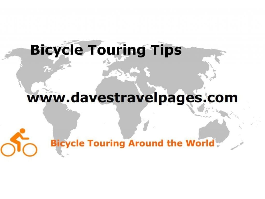 Bicycle Touring Tips