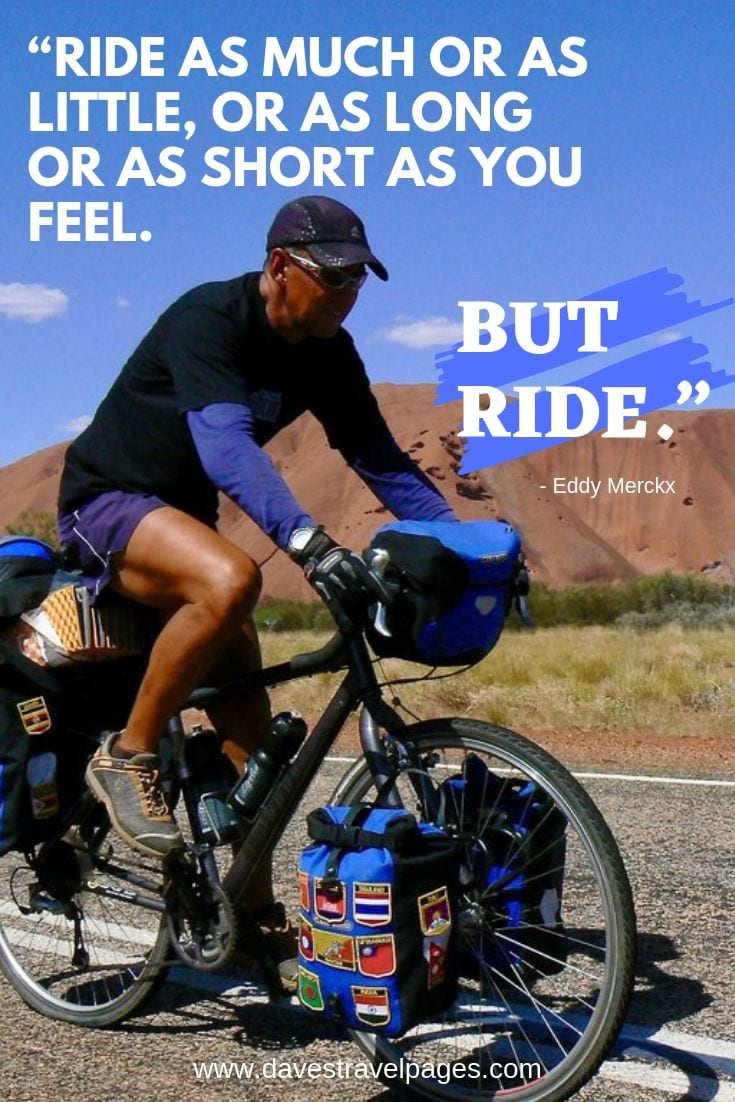 Ride as much or as little, or as long or as short as you feel. But ride.