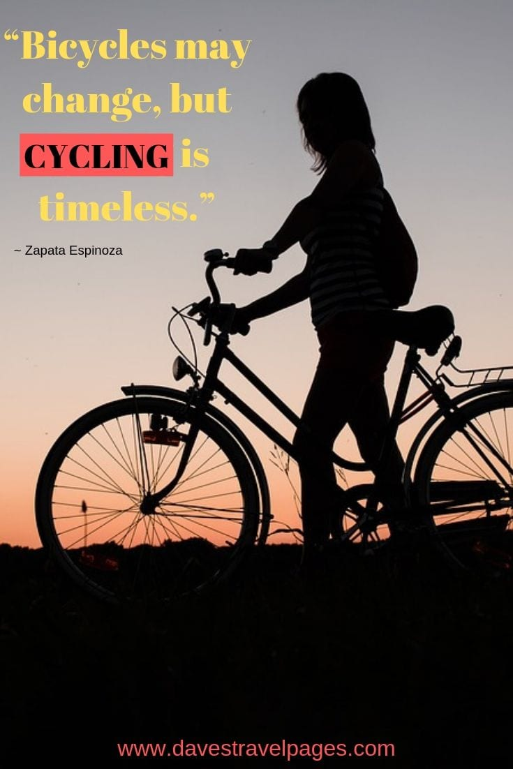 Bicycles may change, but cycling is timeless.