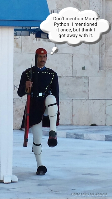 changing the guards in Athens