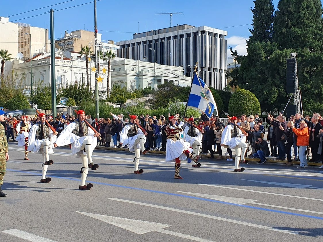 The Sunday changing of the guard in Athens