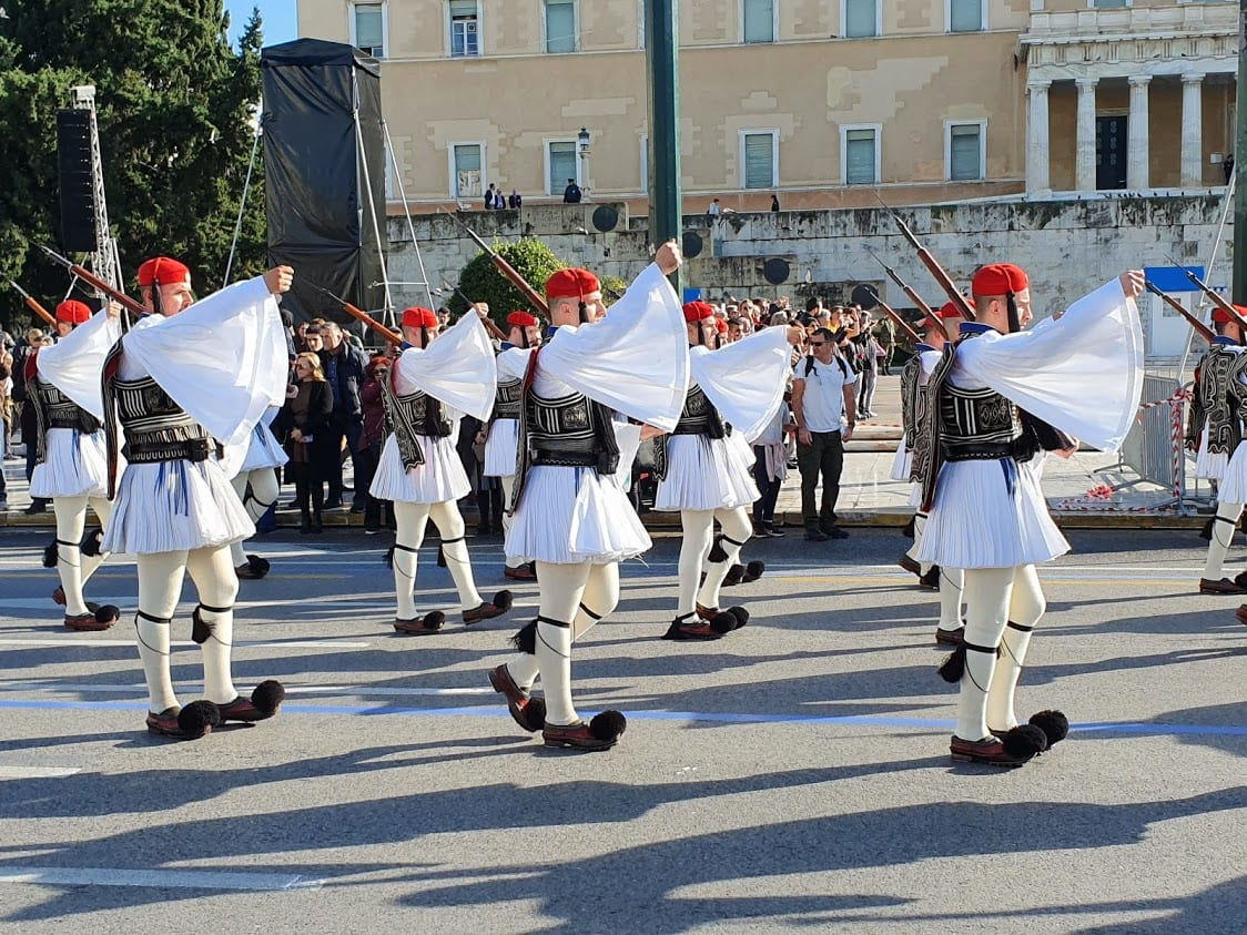 Sunday guard changing in athens