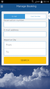 Using the Ryanair app for the first time