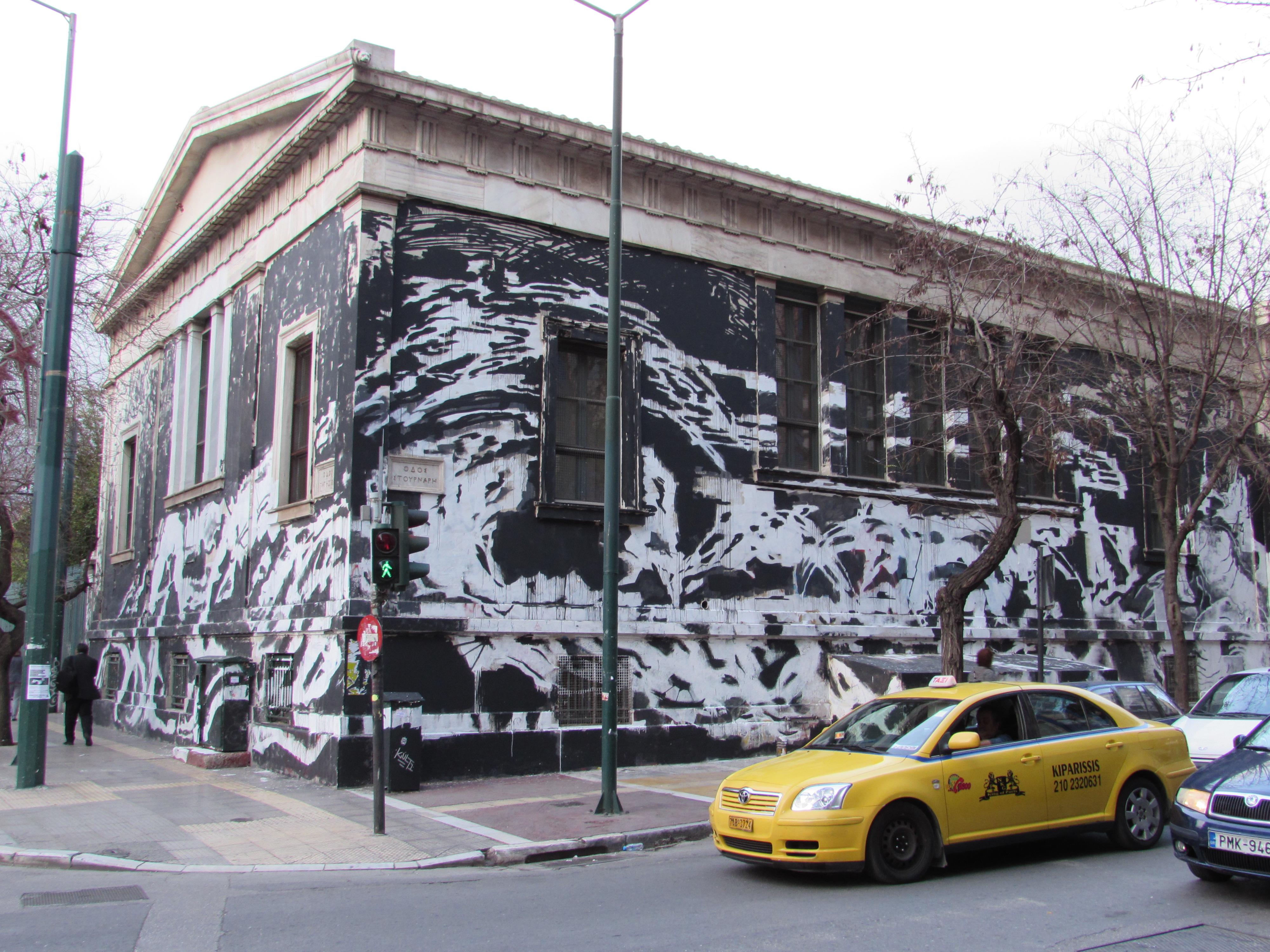 Athens Polytechnic Graffiti Photo