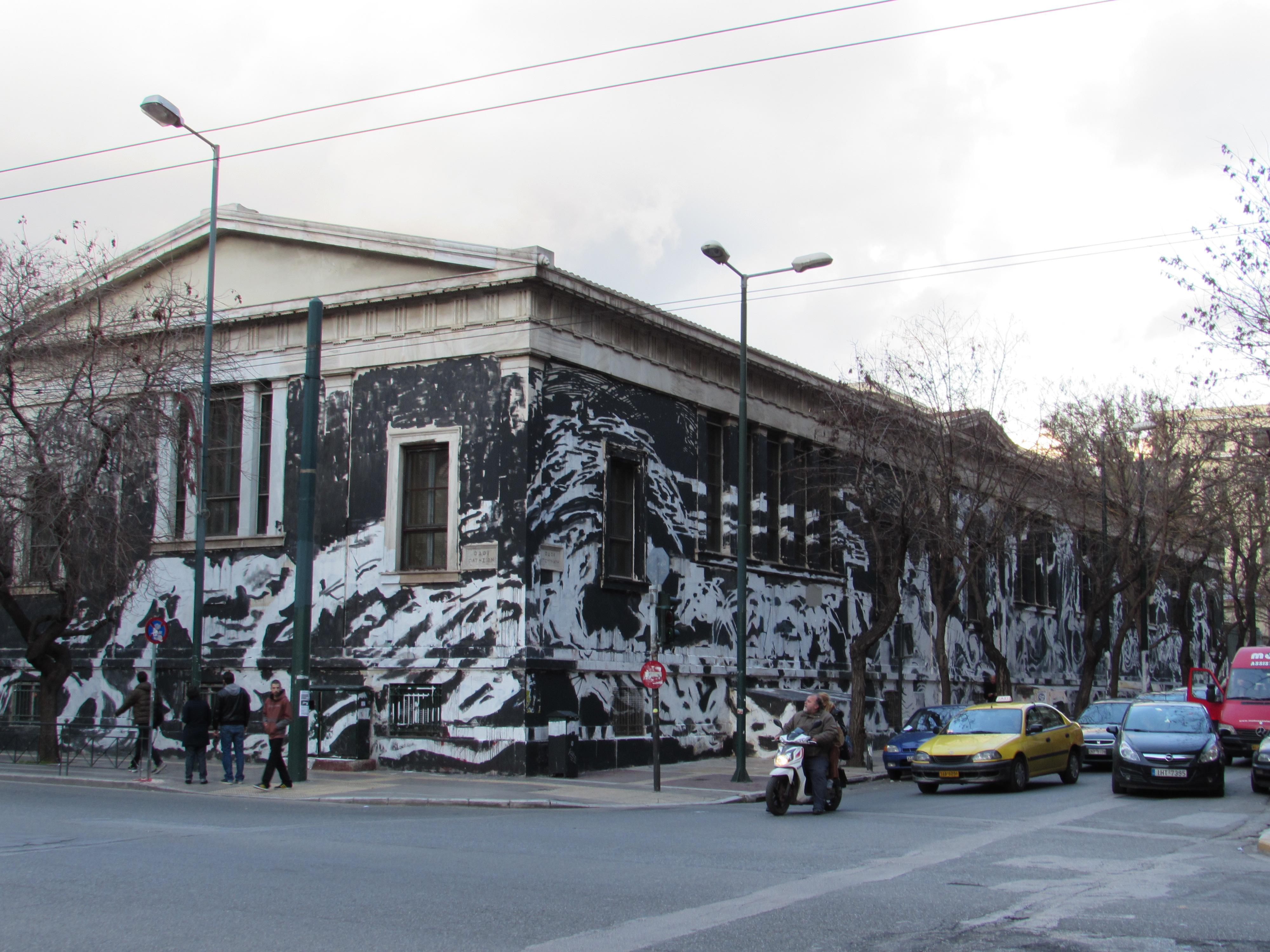 Athens polytechnic graffiti