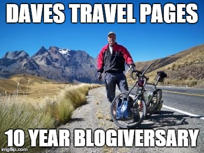 blogiversary Daves Travel Pages