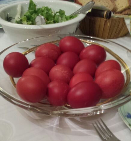 Greek Easter Red Eggs