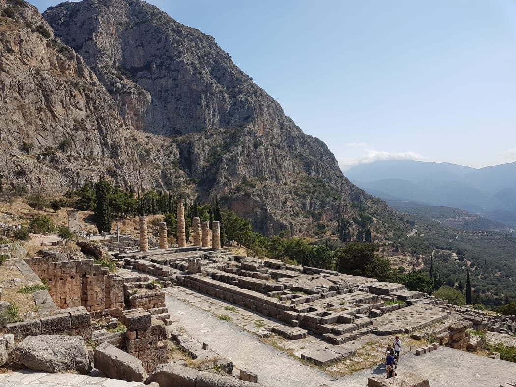 The archaeological site of Delphi in Greece - One of the most important UNESCO sites in the world