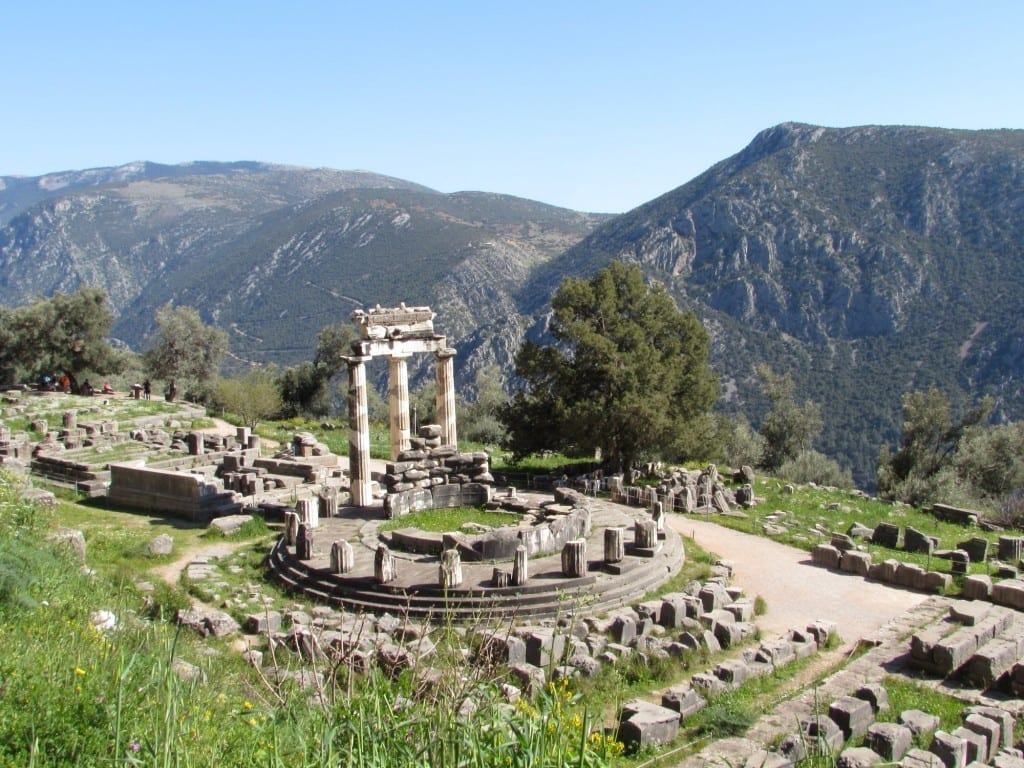 The Tholos of Athena in the Sanctuary of Athena Pronaia at Ancient Delphi, Greece