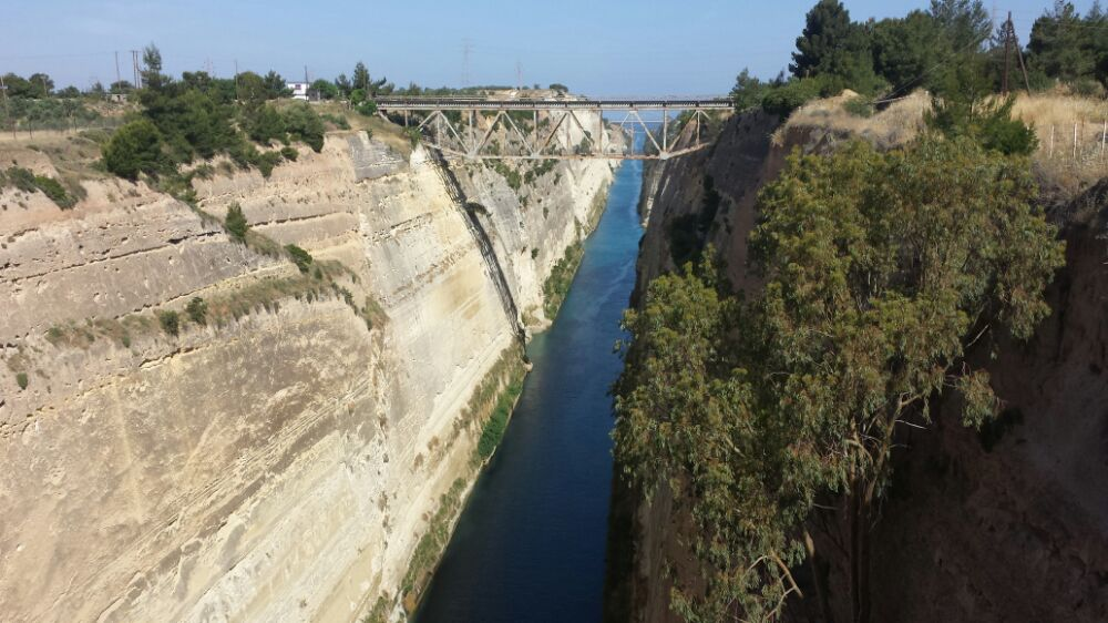 Corinth Canal is one of the most well known landmarks in Greece