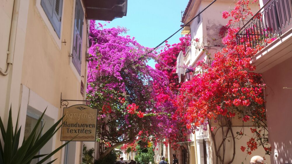 Nafplio in the Peloponnese of Greece