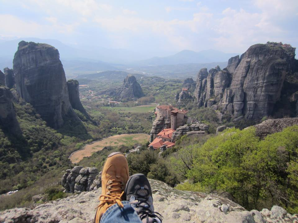 Put your feet up and enjoy the incredible views at Meteora in Greece
