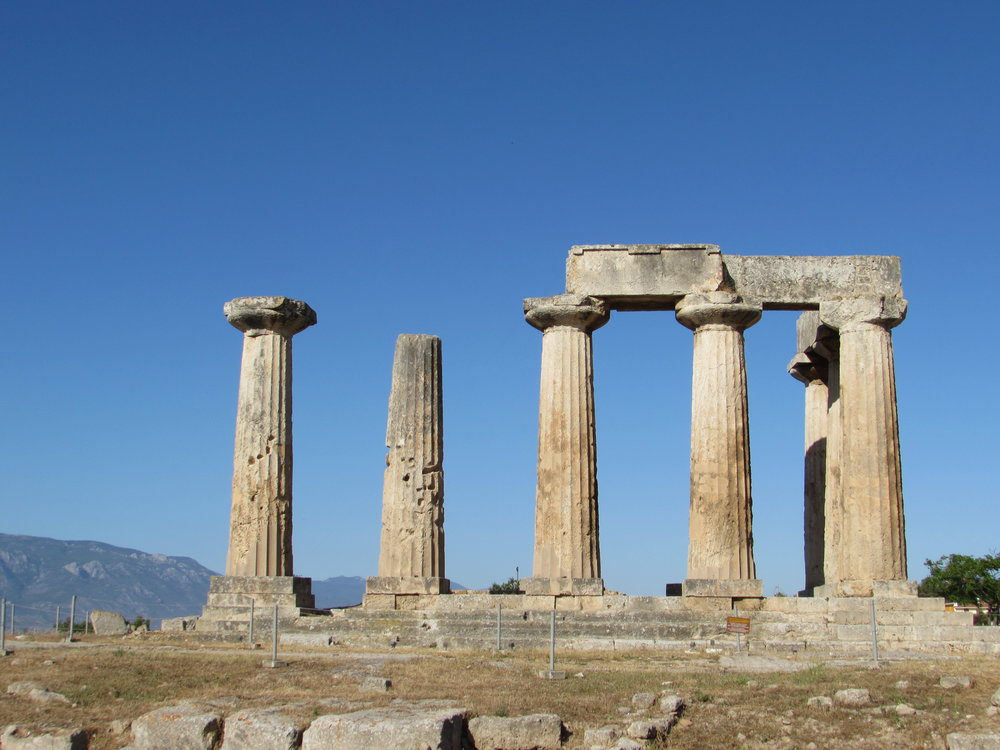 The site of Ancient Corinth in Greece